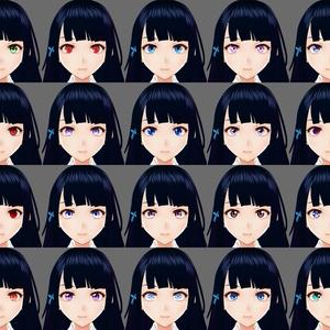 【VRoid】瞳テクスチャセットVol.3【100種類】