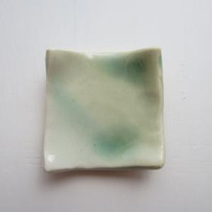 ミニチュア 陶器正方形皿