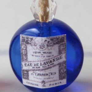 ミニチュア ブルー香水瓶