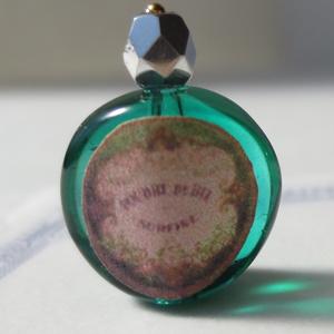 ミニチュア 香水瓶グリーン