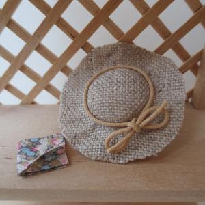 ミニチュア 帽子&ハンカチセット