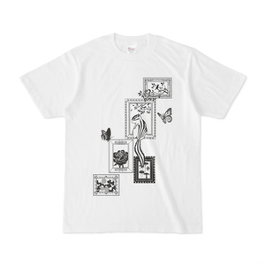シマリス考_シマリスと額縁_白Tシャツ
