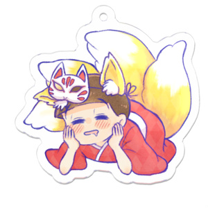 狐おそアクキー