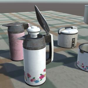 昭和ポットと炊飯器