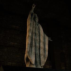 [3Dモデル]遺跡の君主像