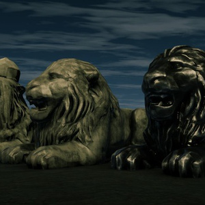 [3Dモデル]遺跡の獅子像