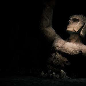 [3Dモデル]遺跡の拳士像