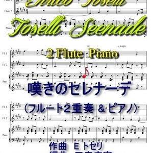 「嘆きのセレナーデ」フルート2重奏&ピアノ(E トセリ作曲)
