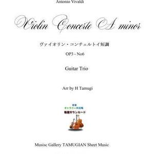 「ヴィバルディ・バイオリン協奏曲Op.3No.6」ギター三重奏