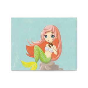 ドーナツ好きの人魚 キャンバス