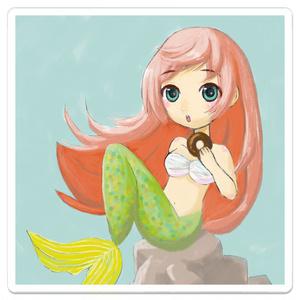 『ドーナツ好きの人魚』アクリルキーホルダー