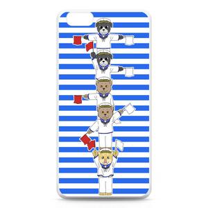 [巻きシッポ帝国]手旗iPhone6 Plusケース