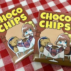 チョコチップクッキーの缶バッジ