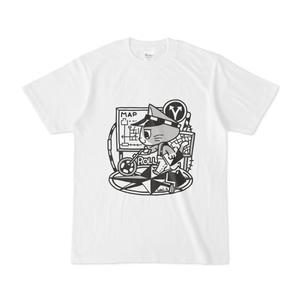 測量をする猫Tシャツ