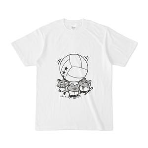 キンボールで遊ぶ猫Tシャツ