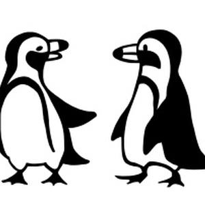 四人のお出かけペンギンTシャツ