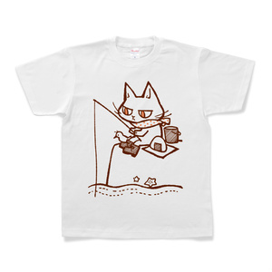 【Tシャツ】釣りをする猫