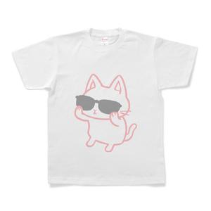 サングラスをかける猫(ピンク)