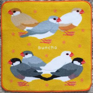 文鳥ミニタオル黄色