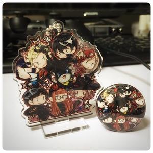 【匿名配送】ペルソナ5 アクリルスタンドキーホルダー&缶バッジセット