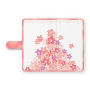 舞う桜の手帳型Androidケース