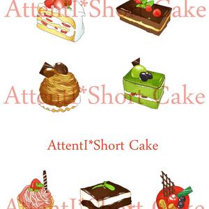 スイーツケーキのイラスト