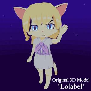 VRChat向けオリジナル3Dモデル「Lolabel」