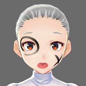 【VRoid用】肌テクスチャ・羽子板墨