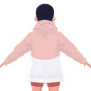 【VRoid用】衣装テクスチャ・メールポケットパーカー【無料】