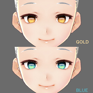 【VRoid用】瞳テクスチャ・マイナス瞳