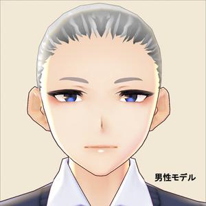 【VRoid用】眉テクスチャ・太まゆ