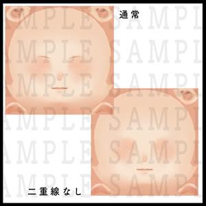 【VRoid用】肌テクスチャ・厚塗り風・男