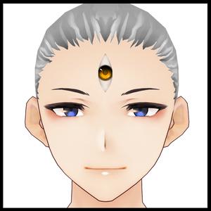 【VRoid】肌アクセサリーテクスチャ・第三ノ瞳