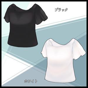 【VRoid】フレアスリーブT【衣装】