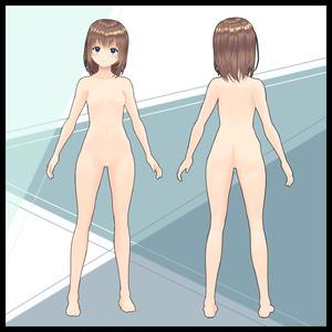【VRoid】改変用素体・二次元系女の子