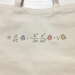 シュレディンガー方程式トートバッグ