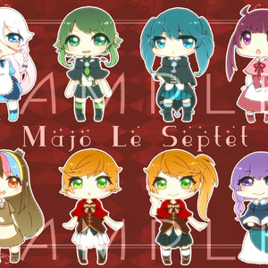 VOCALOID Majo Le Septet 缶バッジセット