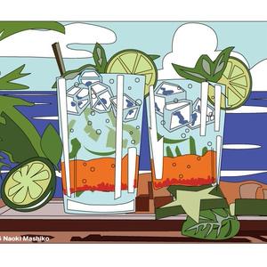 Resort Cocktail -- トートバッグM