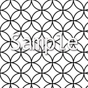 【背景素材】和風文様・七宝繋ぎ