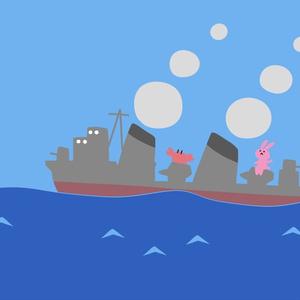 蟹さん&兎さんペンケース