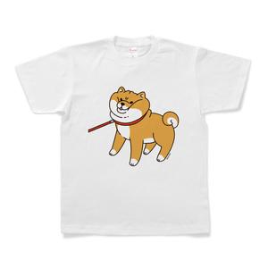散歩から帰りたくない柴犬Tシャツ(ホワイト)