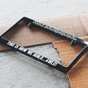 4WLC Underground License Plate Frame