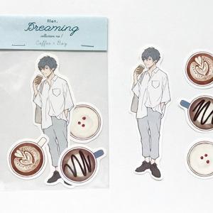 【ステッカー】Coffee × Boy
