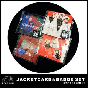 ジャケット風カード&バッジセット【ヒプノシスマイク】