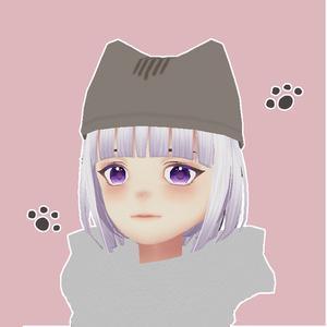 ねこ帽子(VRChat想定3Dモデル)