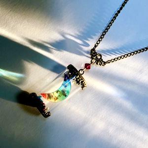 虹月(硝子管入り)ネックレス