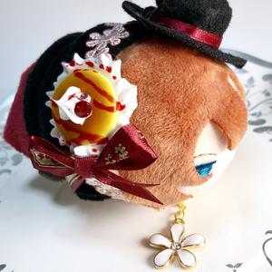 もちアクセサリー(ホットケーキ)赤リボン