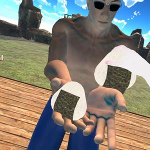 3Dモデル「おにぎり」+おにぎり配布システム