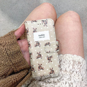 テディちゃん 手帳型iPhone case