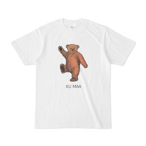 くまー白地Tシャツ